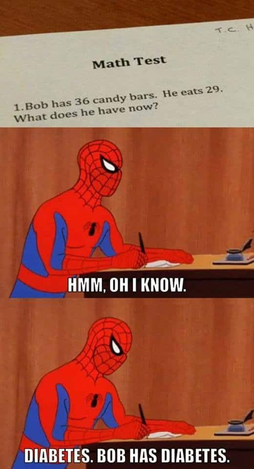 math_test_spiderman_is_smart