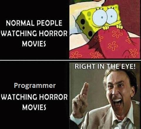 two_type_people_watching_horror_movies