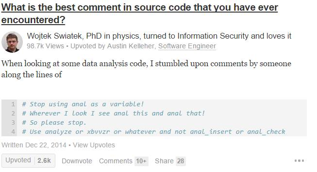 what_is_the_best_comment_in_source_code_that_you_have_ever_encountered