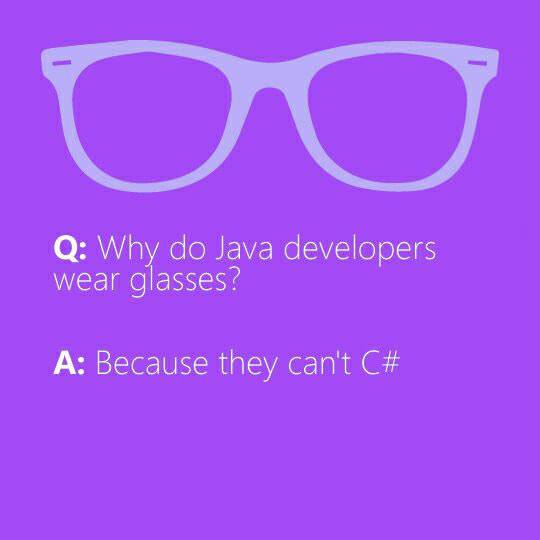 why_do_java_developers_wear_glasses